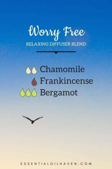 worry free diffuser blend recipe with essential oils