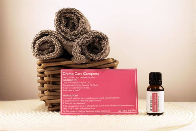 cramp care compress recipe with simply earth ladies choice oil