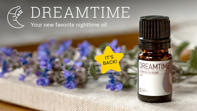 rocky mountain oils dreamtime blend, experience deeper sleep