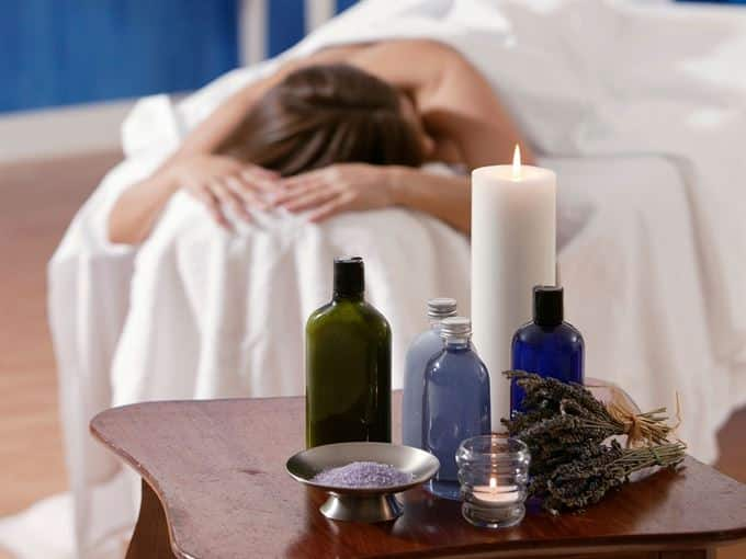 use gentle essential oil massage for lymphatic drainage