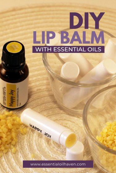 diy lip balm essential oils recipe