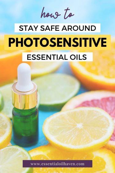 photosensitive essential oils