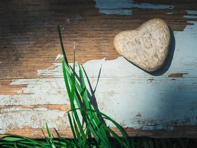 heart shaped in rock