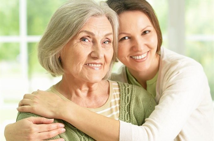 mother and daughter using essential oils for seniors