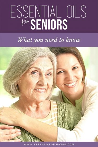 helping a senior with essential oils