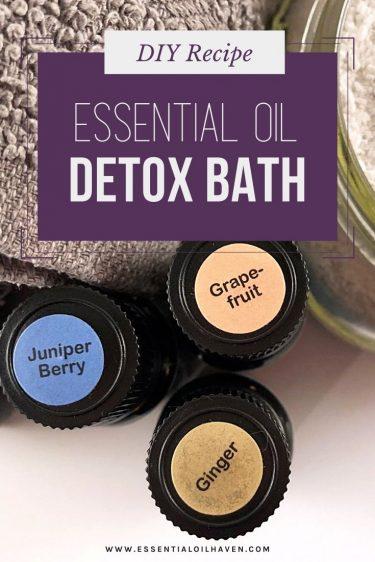 essential oils for detox bath