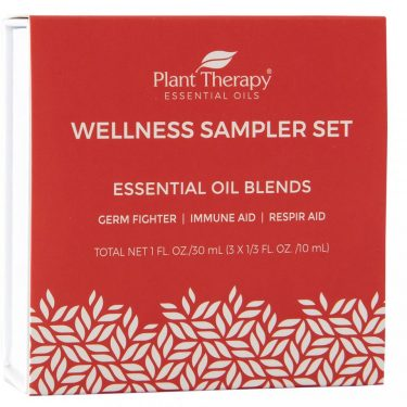 wellness sampler set of essential oils from plant therapy