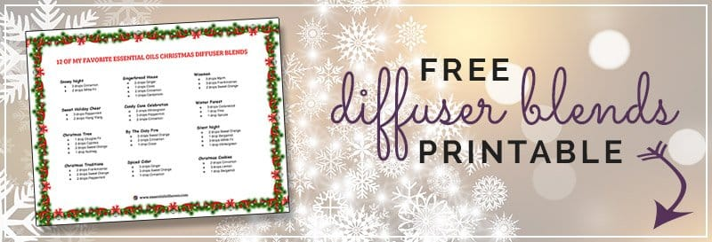 Free Printable Christmas Diffuser Blends