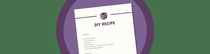 Free Printable DIY Recipe