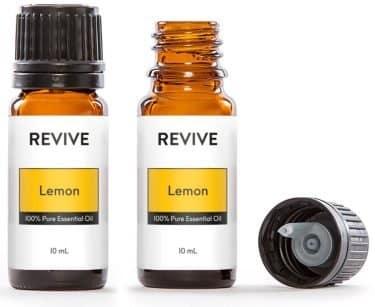 lemon essential oil bottles