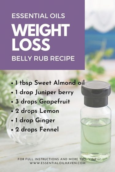 essential oils for weight loss recipes