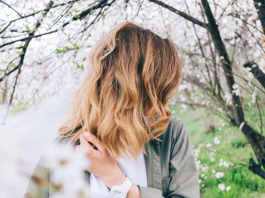 woman showing beautiful hair