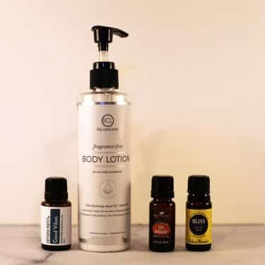 adding essential oils to unscented lotion