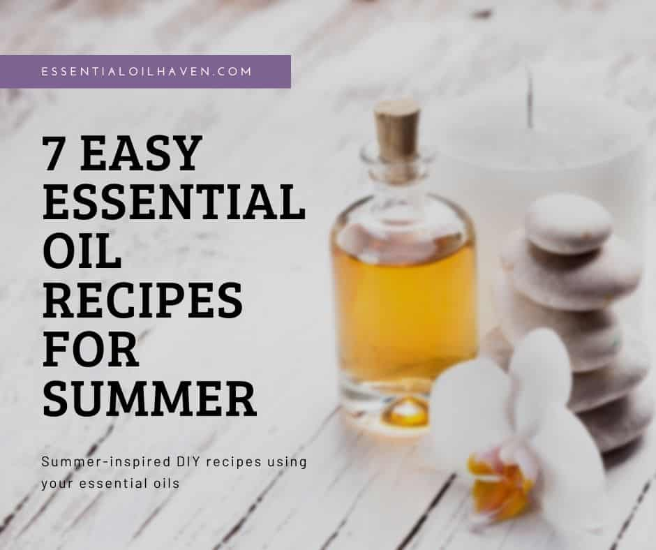 essential oil recipes for summer